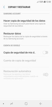 Realiza una copia de seguridad con tu cuenta - Samsung J6 - Passo 6