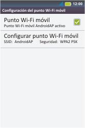 Configura el hotspot móvil - Motorola MotoSmart Me  XT303 - Passo 12