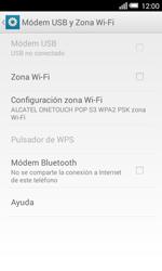 Configura el hotspot móvil - Alcatel Pop S3 - OT 5050 - Passo 10