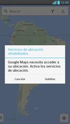Uso de la navegación GPS - LG Optimus G Pro Lite - Passo 6