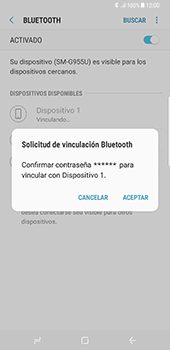 Conecta con otro dispositivo Bluetooth - Samsung Galaxy S8+ - Passo 8