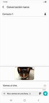 Envía fotos, videos y audio por mensaje de texto - Samsung Galaxy A10 - Passo 22