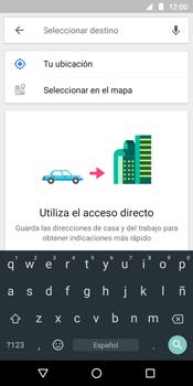 Uso de la navegación GPS - Motorola Moto G6 Play - Passo 12