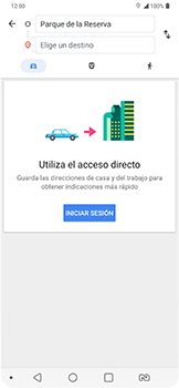 Uso de la navegación GPS - LG G7 Fit - Passo 11