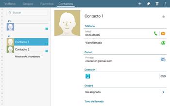¿Tu equipo puede copiar contactos a la SIM card? - Samsung Galaxy Note Pro - Passo 4