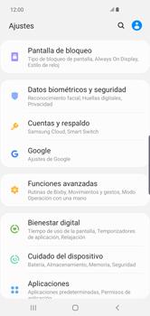Activa o desactiva el uso del código de seguridad - Samsung S10+ - Passo 3