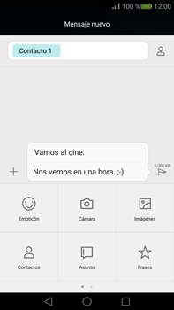 Envía fotos, videos y audio por mensaje de texto - Huawei Mate S - Passo 11