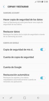 Realiza una copia de seguridad con tu cuenta - Samsung J6 - Passo 7