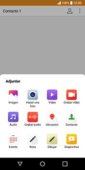 Envía fotos, videos y audio por mensaje de texto - LG Q6 - Passo 13