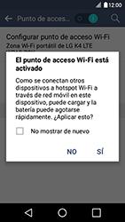 Configura el hotspot móvil - LG K4 - Passo 10