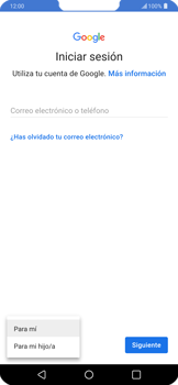 Crea una cuenta - LG G7 ThinQ - Passo 3