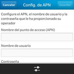 Configura el Internet - BlackBerry Q5 - Passo 8