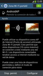 Configura el hotspot móvil - Samsung Galaxy S4 Mini - Passo 11