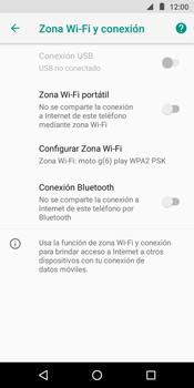 Configura el hotspot móvil - Motorola Moto G6 Play - Passo 9