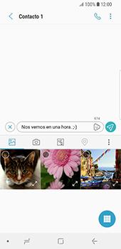 Envía fotos, videos y audio por mensaje de texto - Samsung Galaxy S9 - Passo 9