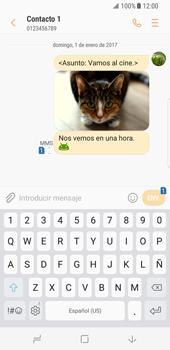 Envía fotos, videos y audio por mensaje de texto - Samsung Galaxy S8 - Passo 18