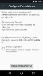 Restaura la configuración de fábrica - Motorola Moto G5 - Passo 6