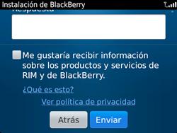 Crea una cuenta - BlackBerry Bold 9720 - Passo 13