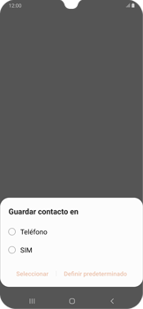 Cómo crear o editar un contacto - Samsung Galaxy A30 - Passo 4