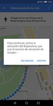 Uso de la navegación GPS - Huawei Y6 2018 - Passo 17