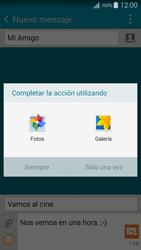 Envía fotos, videos y audio por mensaje de texto - Samsung Galaxy A5 - A500M - Passo 15