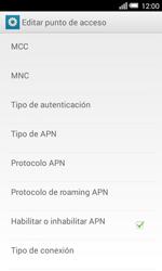 Configura el Internet - Alcatel Pop S3 - OT 5050 - Passo 11