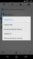 ¿Tu equipo puede copiar contactos a la SIM card? - Sony Xperia Z2 D6503 - Passo 6