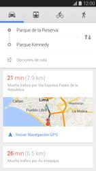 Uso de la navegación GPS - Samsung Galaxy S5 - G900F - Passo 13