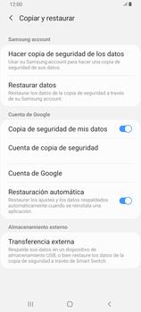 Realiza una copia de seguridad con tu cuenta - Samsung Galaxy A80 - Passo 7