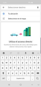 Uso de la navegación GPS - Samsung S10+ - Passo 14