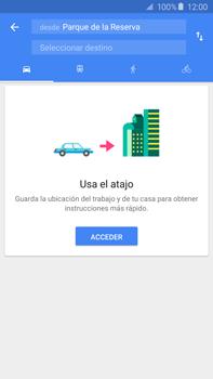 Uso de la navegación GPS - Samsung Galaxy Note 5 - N920 - Passo 12