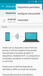 Configura el hotspot móvil - Samsung Galaxy S6 - G920 - Passo 7