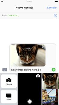 Envía fotos, videos y audio por mensaje de texto - Apple iPhone 8 Plus - Passo 14
