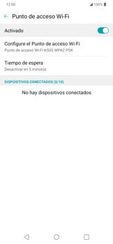 Configura el hotspot móvil - LG K50s - Passo 8