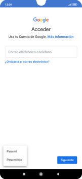 Crea una cuenta - Xiaomi Redmi Note 7 - Passo 4