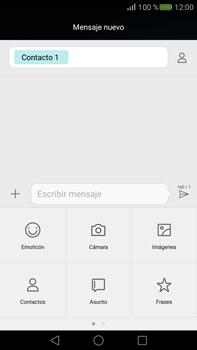 Envía fotos, videos y audio por mensaje de texto - Huawei Mate S - Passo 7