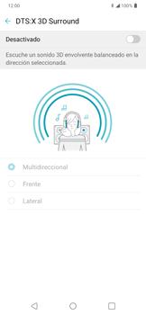 Cómo reproducir sonido con DTS: x3D Surround - LG K50s - Passo 11