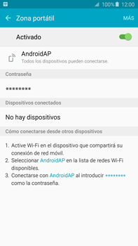 Configura el hotspot móvil - Samsung Galaxy Note 5 - N920 - Passo 10