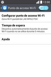 Configura el hotspot móvil - LG L40 - Passo 11