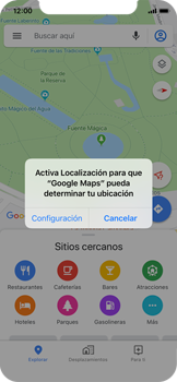 Uso de la navegación GPS - Apple iPhone XS - Passo 4