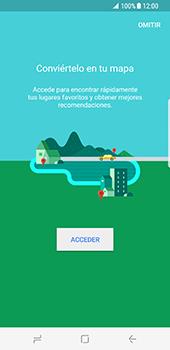 Uso de la navegación GPS - Samsung Galaxy S8 - Passo 4