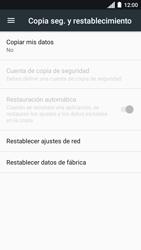 Restaura la configuración de fábrica - Motorola Moto C - Passo 5