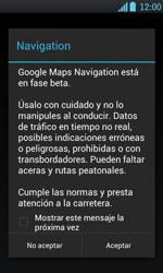 Uso de la navegación GPS - LG Optimus L7 - Passo 18