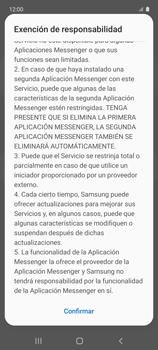Cómo usar el Dual Messenger - Samsung Galaxy A51 - Passo 8