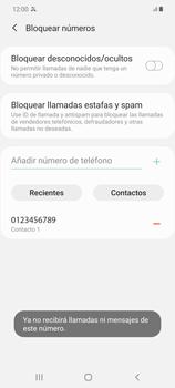 Cómo bloquear llamadas - Samsung Galaxy Note 20 - Passo 9
