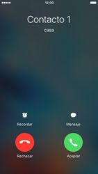 Contesta, rechaza o silencia una llamada - Apple iPhone 6s - Passo 3
