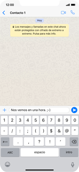 Usar WhatsApp - Apple iPhone XS Max - Passo 6