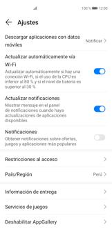 Cambiar configuración de actualizaciones de aplicaciones - Huawei P40 - Passo 6