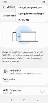 Configura el hotspot móvil - Samsung Galaxy A10 - Passo 8