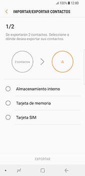 ¿Tu equipo puede copiar contactos a la SIM card? - Samsung Galaxy S9 - Passo 9